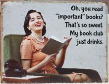 Book Club Metal Sign