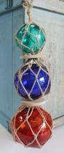 Triple Glass Nautical Float