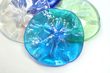 Sand Dollar Glass Paper Weights - Set of 4