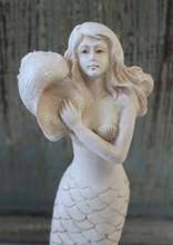 Close Up of mermaid Figure and Shell