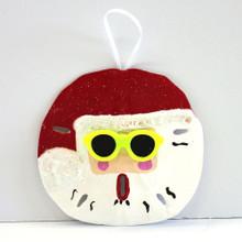 Santa with Sun Glasses Ornament
