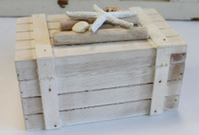 Wood Box with Starfish & Shells