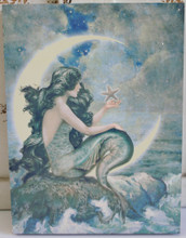 Moon Mermaid Wood Block