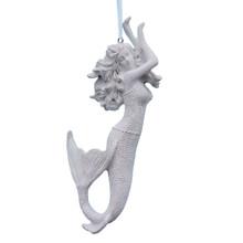 White Glitter Mermaid Ornament