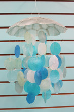 Assorted Blue Capiz Top Chimes