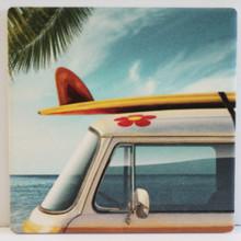Van with Surfboard Coaster