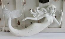 White Mermaid Wall Figure