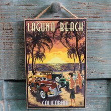 Woodies on Laguna Beach
