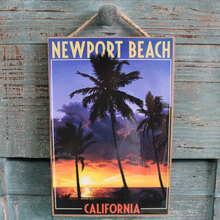 Palm Trees at Sunset Newport Beach