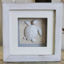 White Sea Turtle Shadow Box