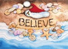 Believe Santa Hat Christmas Card