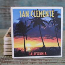 San Clemente Palms at Sunset