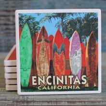 Encinitas Surfboard Fence Coaster