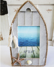 Gray Boat Frame with Rope