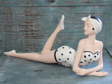 Bathing Beauty in Polka Dots