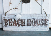 Beach House Sign with Turtle