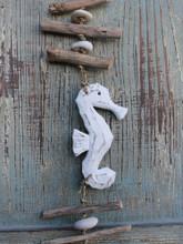 Wood Seahorse Driftwood Garland