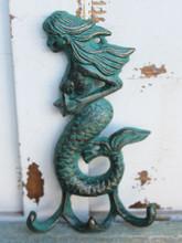Green Iron Mermaid Triple Hook