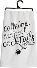 caffeine, carpool, cocktails towel