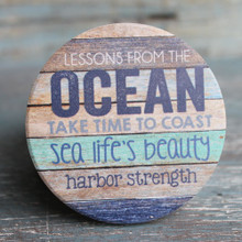 Lessons from the Ocean: Take time to coast, Sea life's beauty, Harbor strength