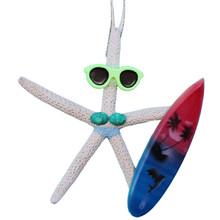 Surfer Girl Starfish Ornament - Light Blue