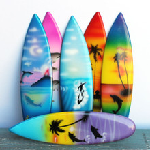 Six Designs of Surfboard Magnets