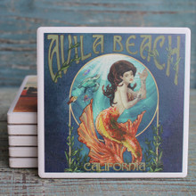 Orange Mermaid Coaster - Avila Beach