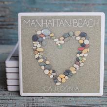 Stone Heart Manhattan Beach Coaster