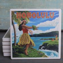 Honolulu Hula Girl coaster