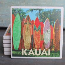 Kauai Surfboard Fence coaster