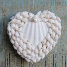 White Shell Heart Ornament