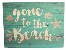 Gone to the Beach Wood Sign