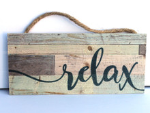 Relax Rope Hanging Sign