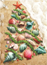 Sea shell Christmas Tree in the Sand