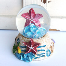 Red Starfish Snow Globe