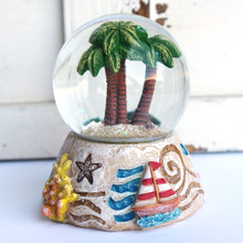 Palm Trees Snow Globe