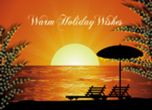 Palm Trees at Sunset - Warm Holiday Wishes