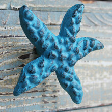Blue Starfish Iron Knob