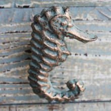 Green Seahorse Iron Knob