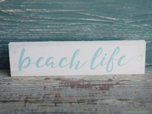 Beach Life Small Wood Sign