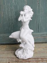 Mermaid on Dolphin figurine