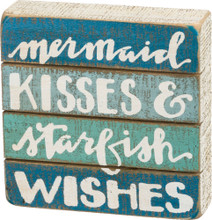 Mermaid Kisses Slat Box Sign