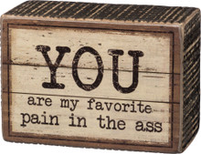 You are my favorite pain in the ass.