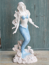Blue Tail Standing Mermaid Figurine