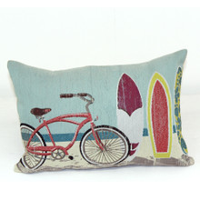 Bike and Board Throw Pillow