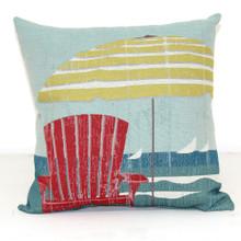 Red Chair & Beach Umbrella Pillow
