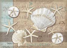 Linen Shells Holiday - LPG Christmas Cards