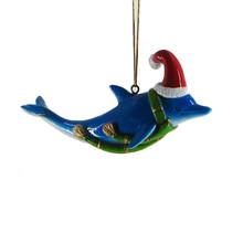 Dolphin Santa Hat Ornament