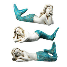 Blue Tail Mermaids - 3 Assorted Figures