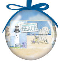 Coastal Collage Ball Ornament